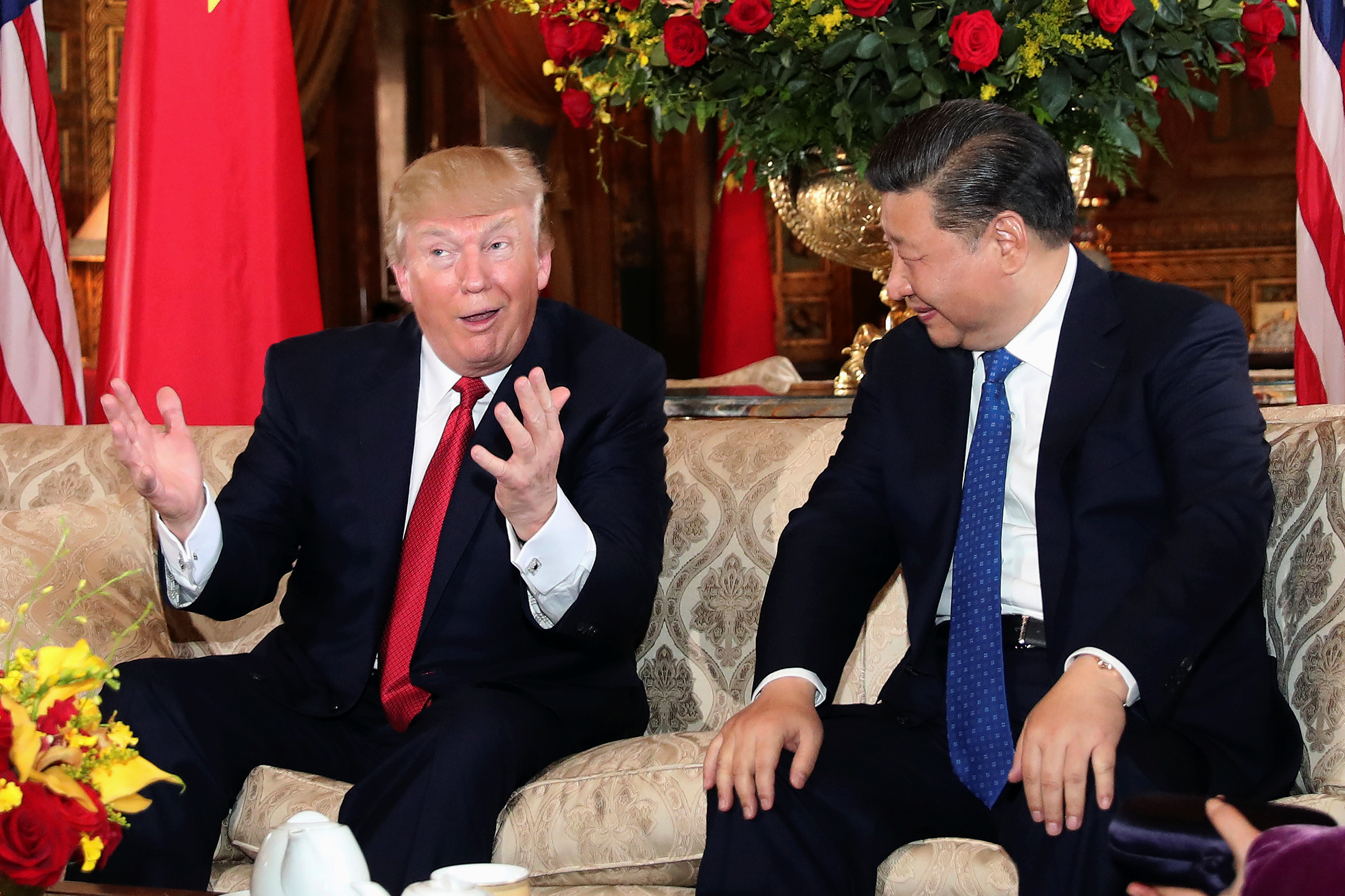 President Donald Trump meeting with Chinese President Xi Jinping at Mar-a-Lago, Florida, April 6th 2017