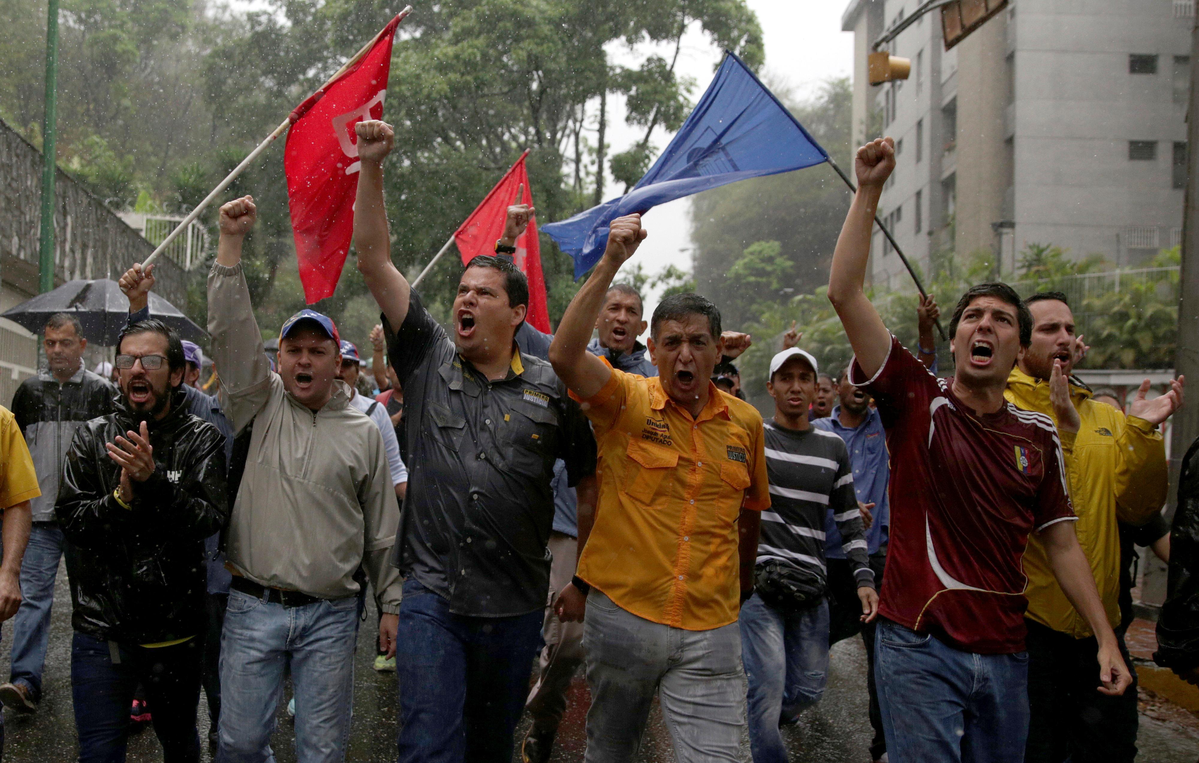 Demonstrators rally against Venezuela's President Nicolas Maduro in Caracas, Venezuela, April 13, 2017.