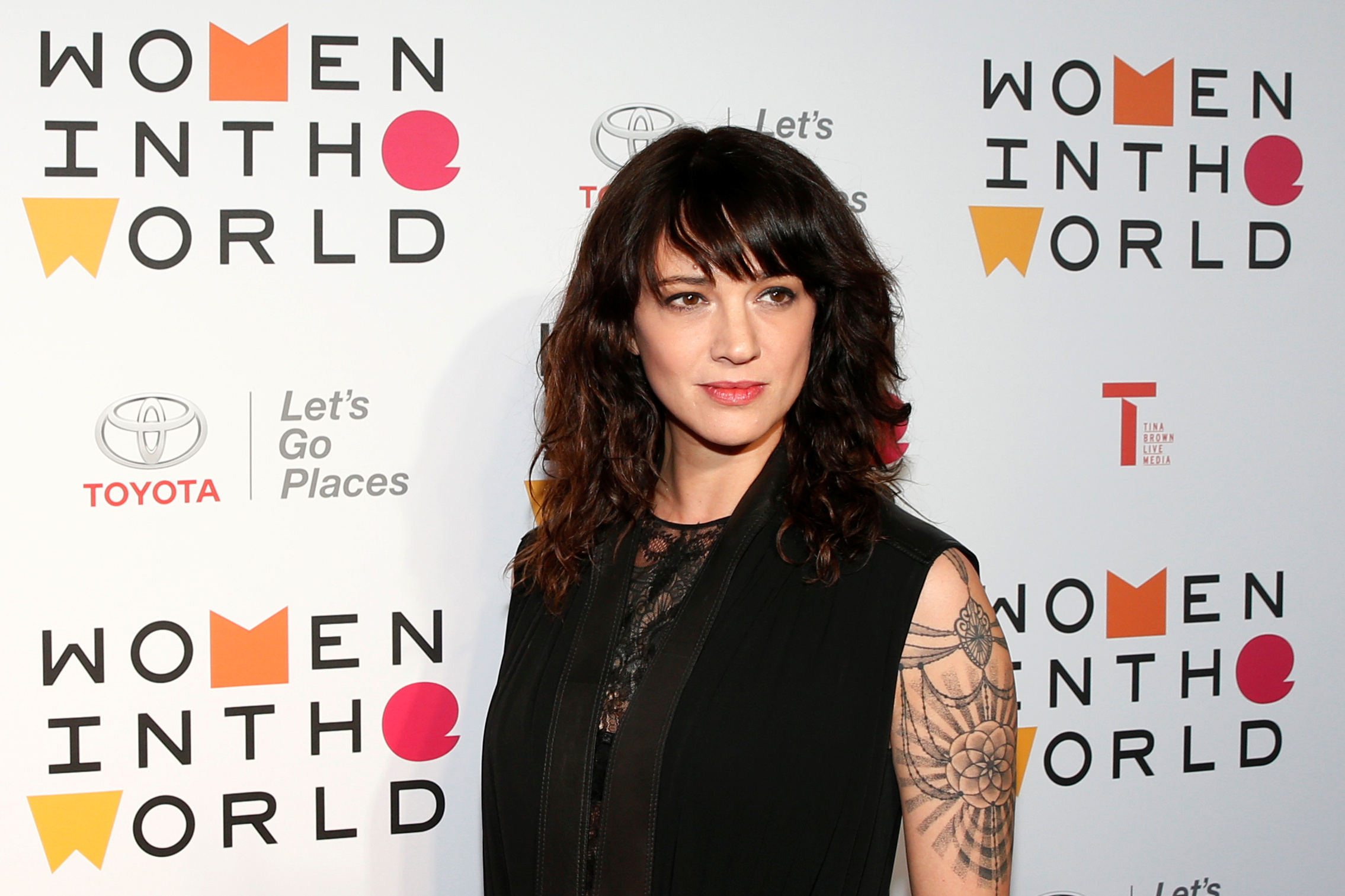 Asia Argento arrives for the Women In The World Summit in New York City