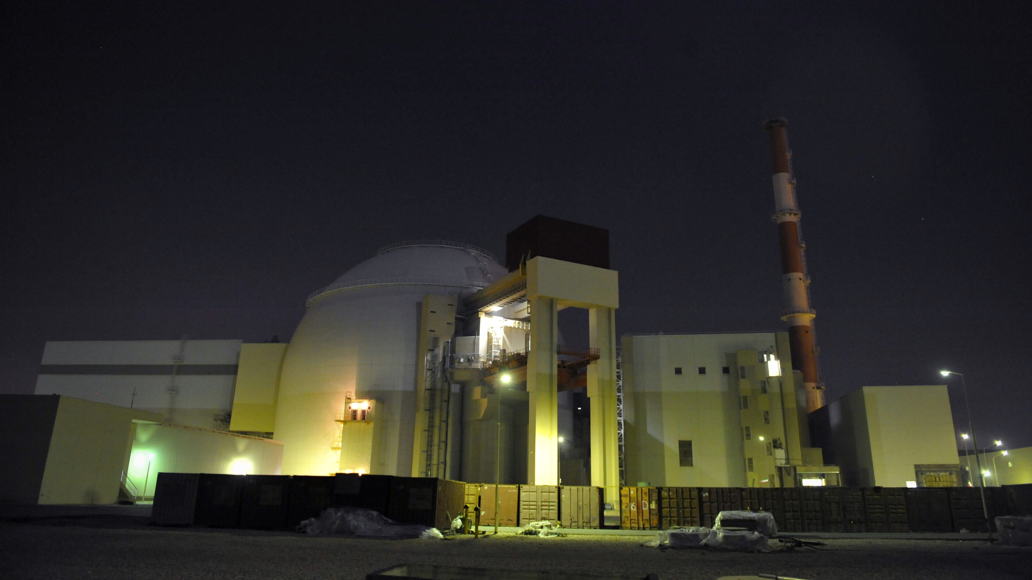 A general view of the nuclear power plant in Bushehr, Iran, about 800 miles south of Tehran