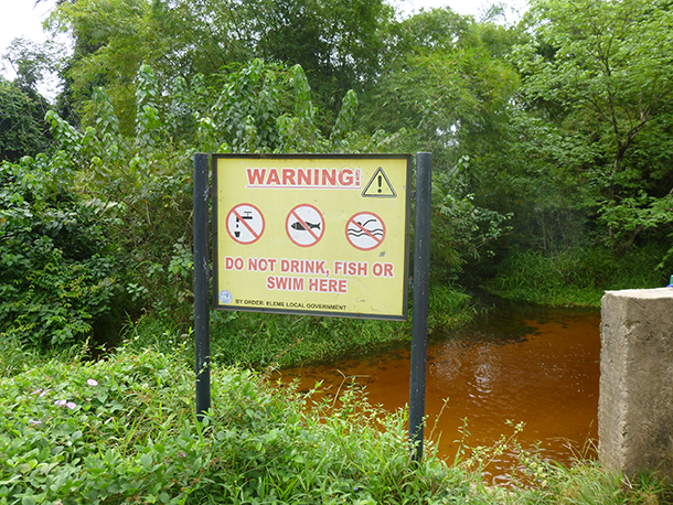 Shell Can't swim sign