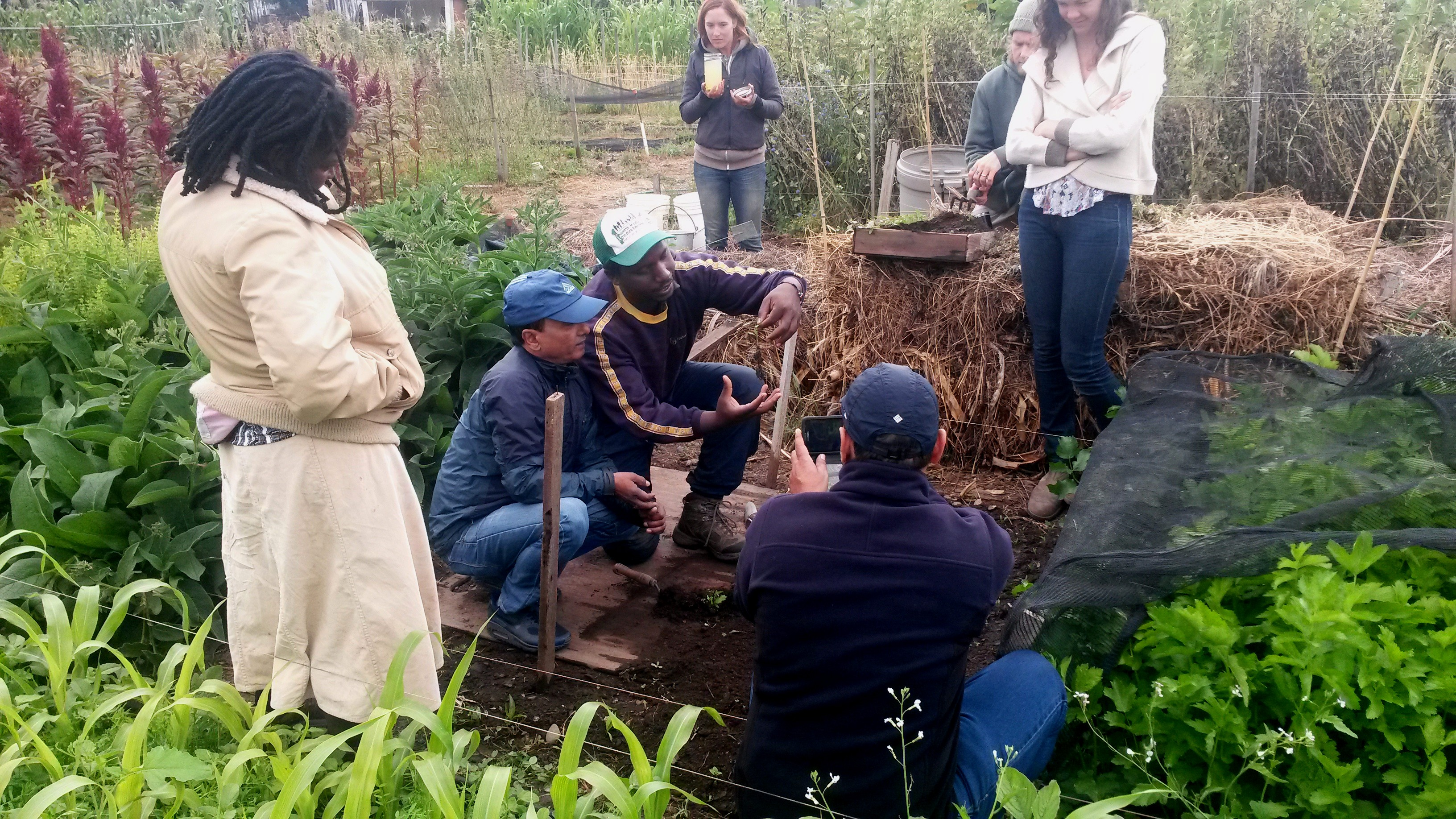 small farmers from around the world learn how they can grow far