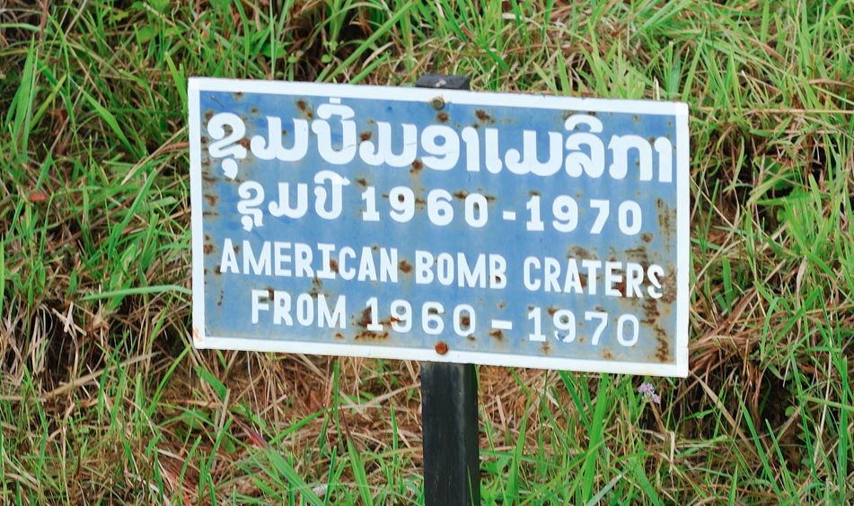 At one point one-third of Laos had a US bomb on it.