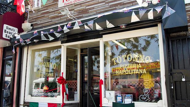 Totonno's Pizzeria in Coney Island, Brooklyn, NY.