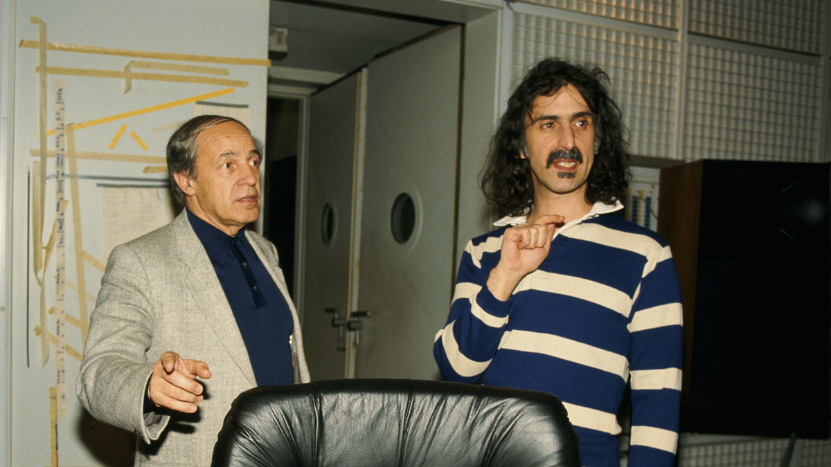Pierre Boulez and Frank Zappa in Paris, January 11th, 1984
