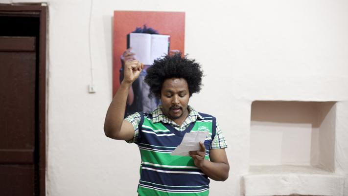 Adamasu our drummer on the poem.