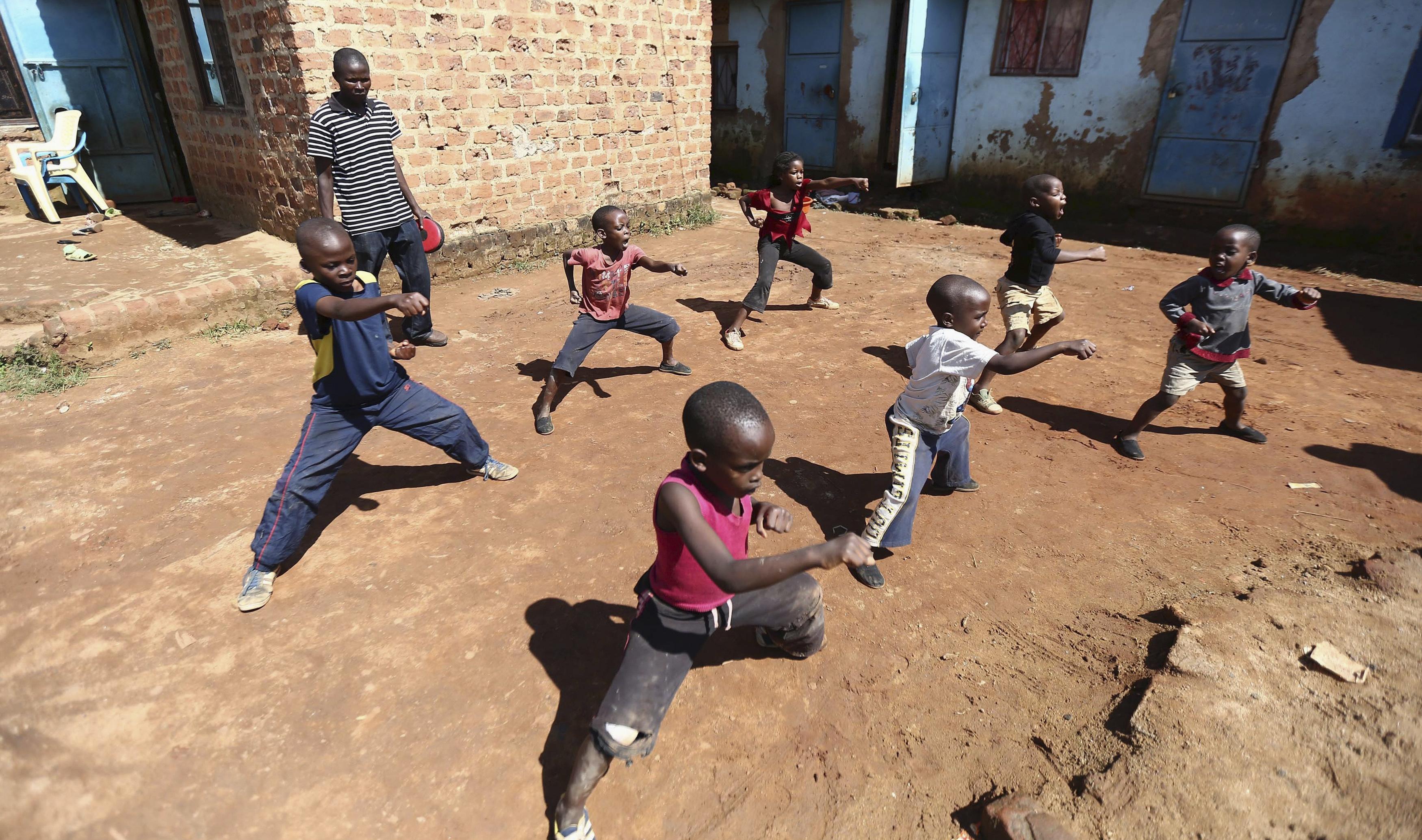 Children rehearse