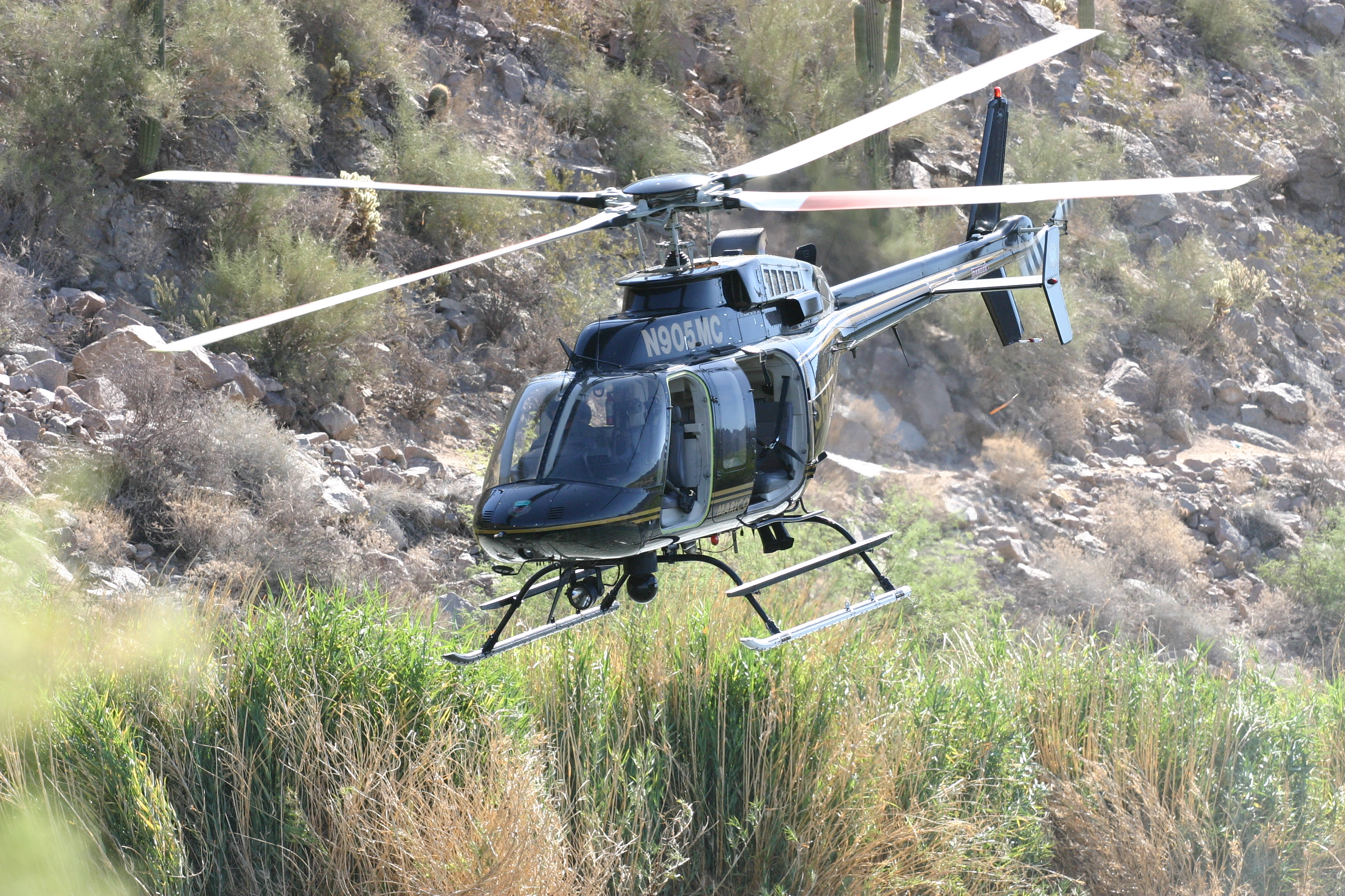 Maricopa County Sheriff's Office has its own helicopters for search and rescue operations, including some rescues of recent border crossers who call 911 dispatchers in the county.