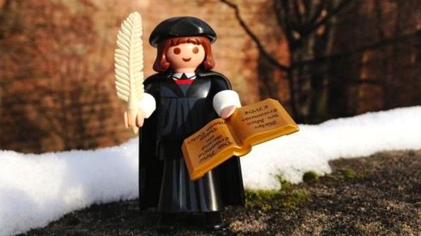 German toy company Playmobil released a Martin Luther figurine this year, ahead of the 500th anniversary of the Protestant Reformation in 2017. The first run of 34,000 sold out in less than 72 hours.