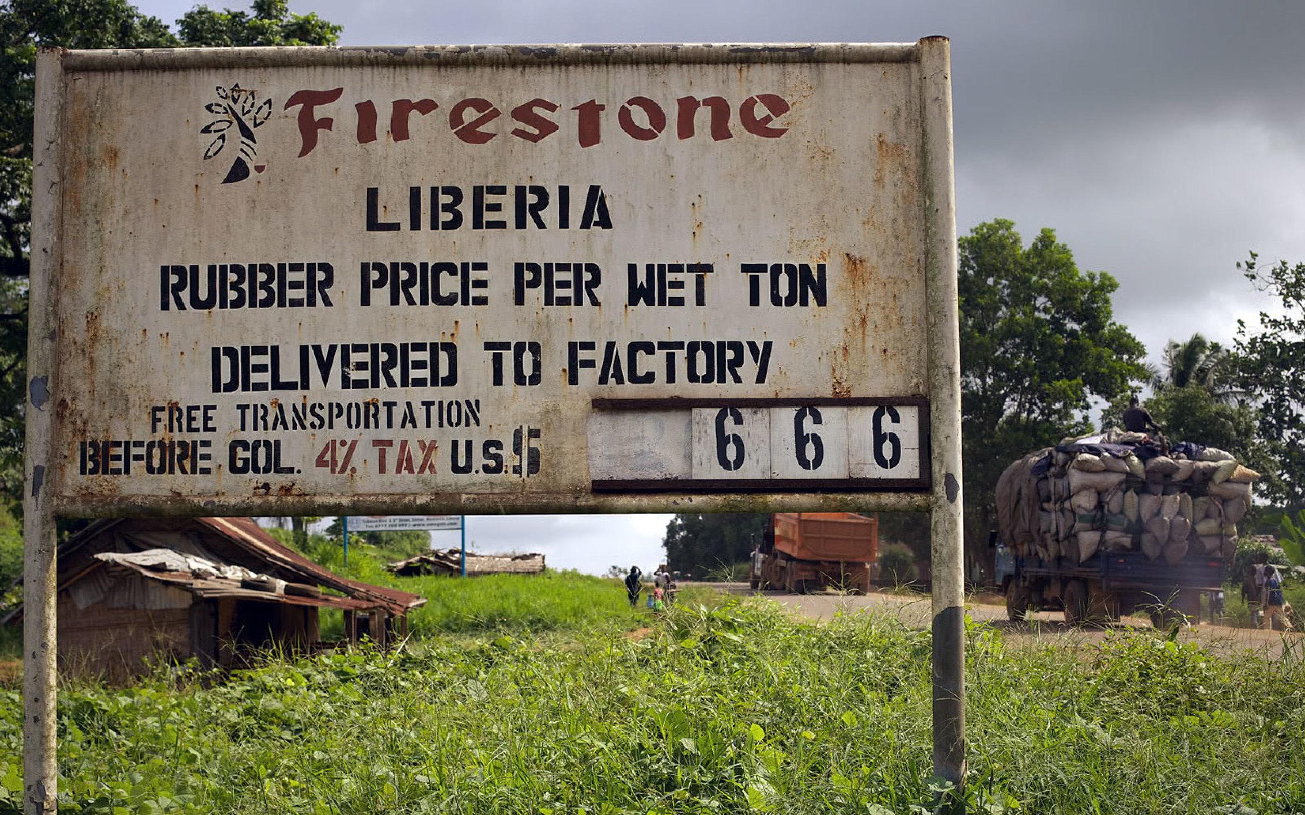 Firestone has operated a rubber plantation in Liberia since 1926.