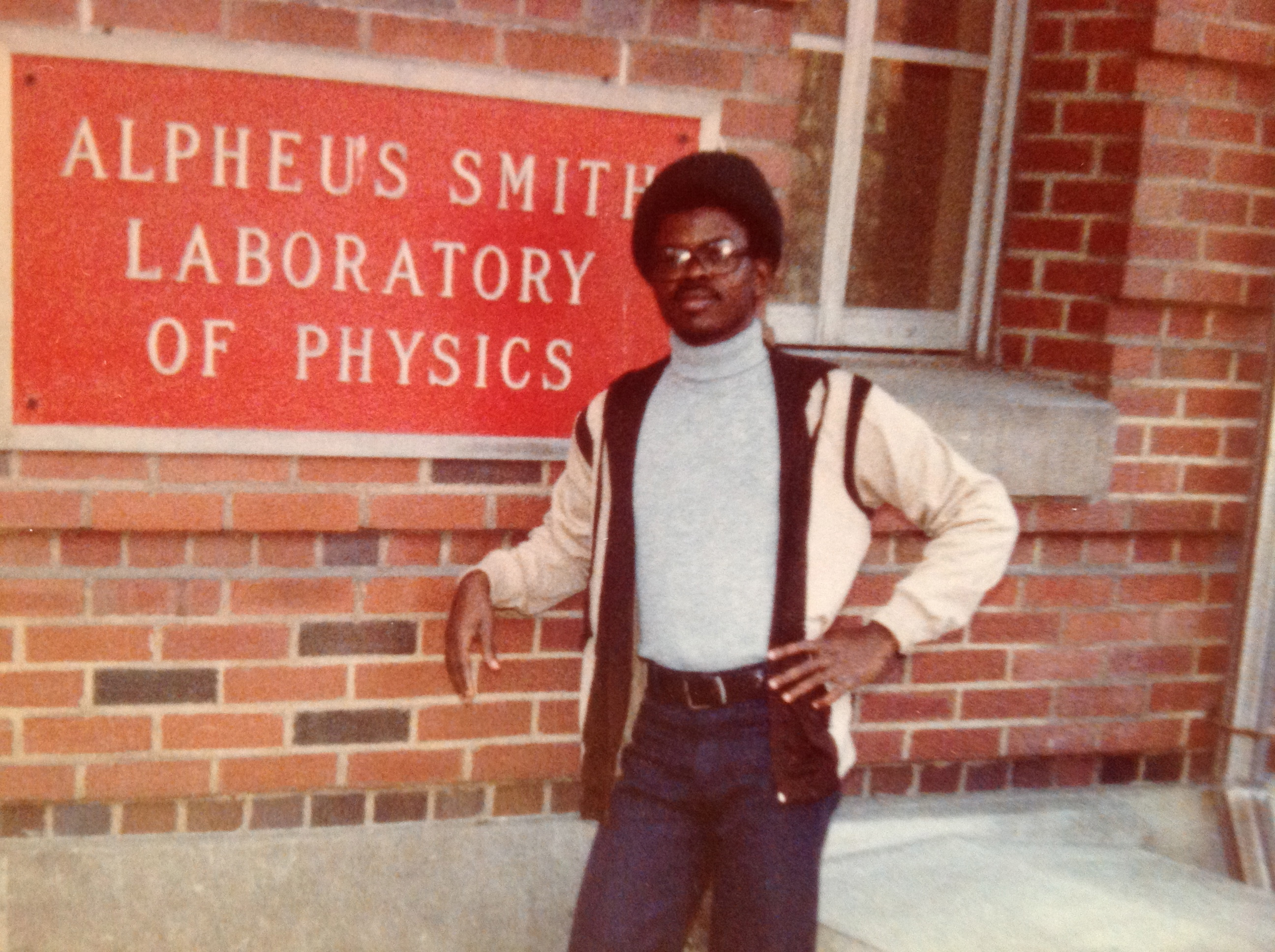 Abu Eghan at Ohio State University, shortly after arriving to the United States in 1979. Back then, he says, he thought he would get his degree and head back home. But as the political situation in Ghana grew worse, his friends and family warned him not t