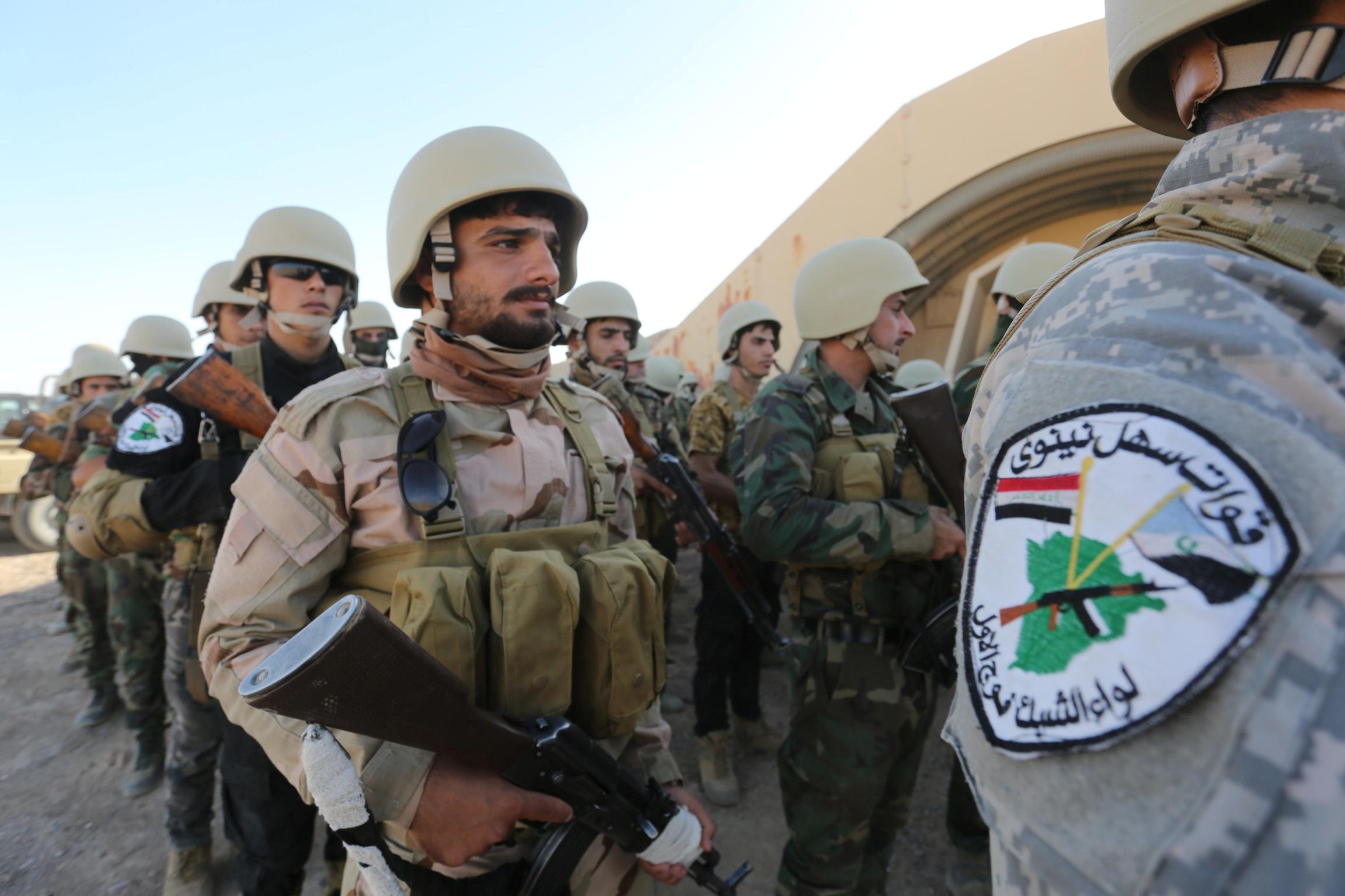 Shabak fighters undergo training