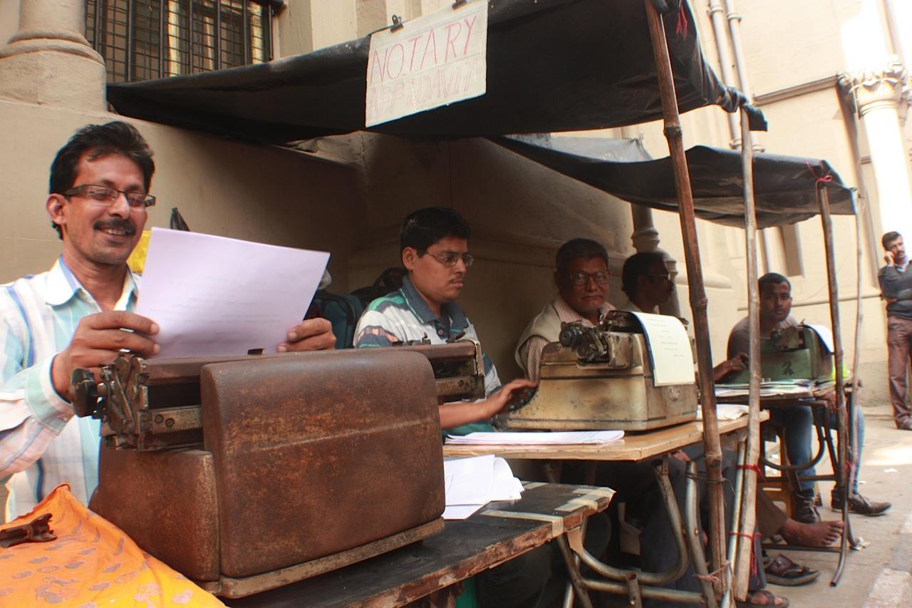 Typists in Calcutta