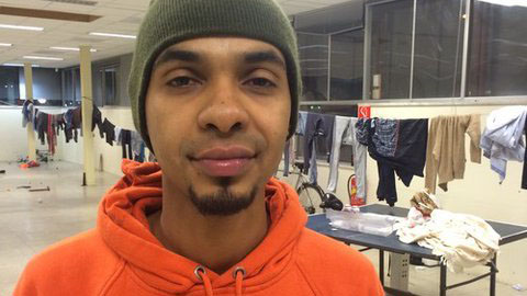 22-year-old Attas is currently living with 70 other homeless migrants in an abandoned office building in Amsterdam. The Dutch govenment this week rejected a UN call to assist  illegal homeless migrants by providing food and shelter.