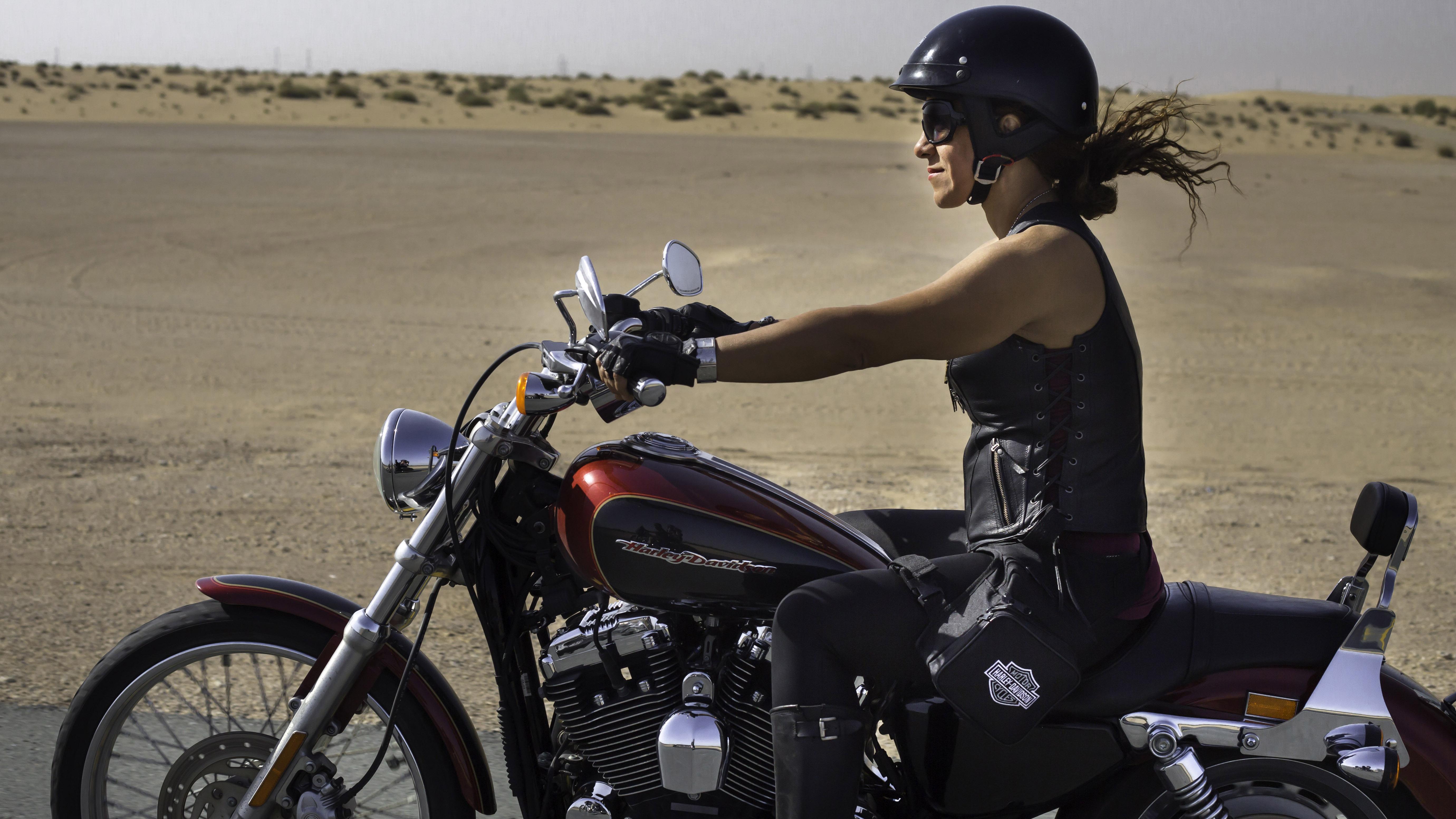 On Dubai S Roads Women Hop On Harleys And Shatter