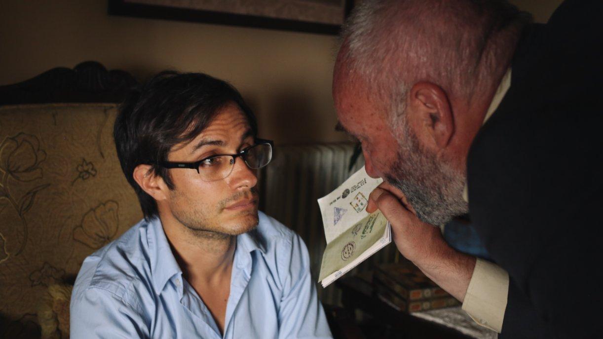"Gael García Bernal plays Iranian reporter Maziar Bahari in ""Rosewater."""