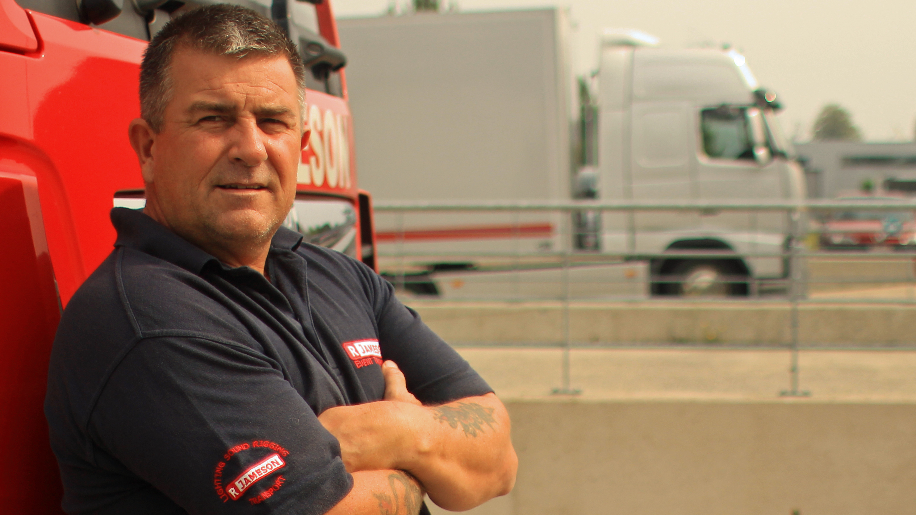 As a trucker, Vince Steptoe seems himself as the front line in Europe's migrant crisis (Leo Hornak)