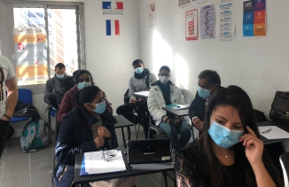A training session via France's Office of Immigration and Integration.