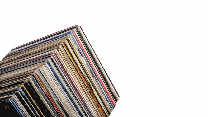A tower of vinyl.