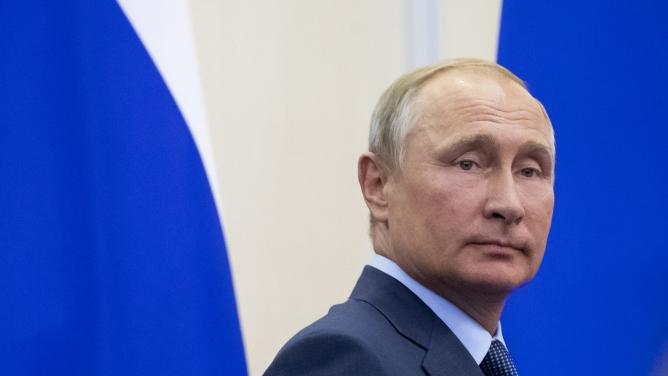 Russian President Vladimir Putin in Sochi, Russia, August 22, 2018.