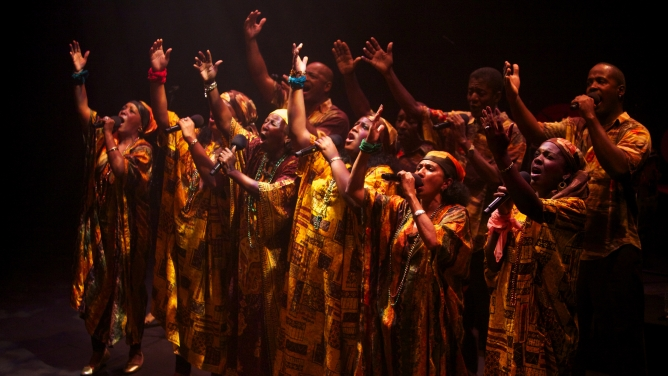 The Creole Choir of Cuba, who sing impassioned songs influenced by both traditional gospel and Caribbean music.
