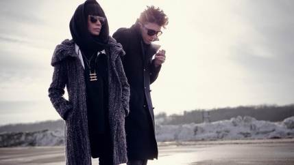 """School of Seven Bells"" members Alejandra Deheza and Benjamin Curtis on tour in 2012."