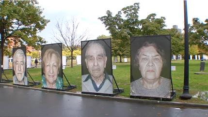 Faces of holocaust survivors