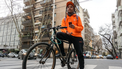 a man on a bike in argentina