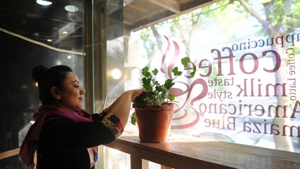Nargis Azizshahy is the owner of ICafe in Kabul, Afghanistan.