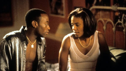 "Omar Epps and Sanaa Lathan in the 2000 drama ""Love & Basketball."""