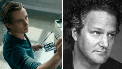 "Tom Schilling as Kurt Barnet in ""Never Look Away"" and the director, Florian Henckel von Donnersmarck."