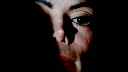 A shadowy face of Michael Jackson