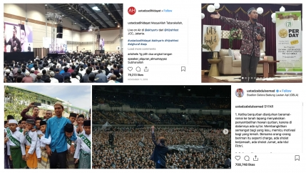 images of various Muslim clerics on Instagram