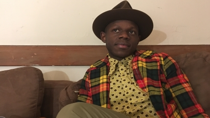 Kenyan musician J.S. Ondara backstage before a recent show in Boston