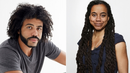 Actor Daveed Diggs and playwright Suzan Lori-Parks.