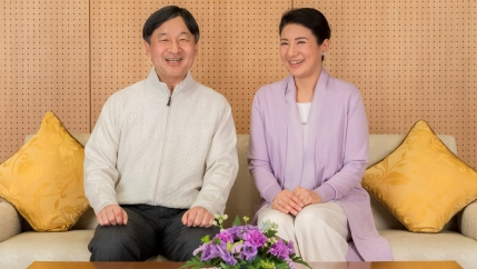 Japan's Crown Prince Naruhito and Crown Princess Masako