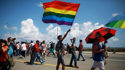 a gay rights march in havana