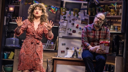 "Sarah Stiles and Andy Grotelueschen in the Broadway production of ""Tootsie."""