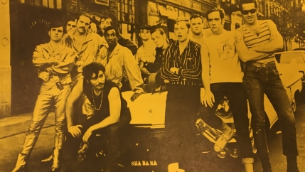 An early publicity still for Sha Na Na.