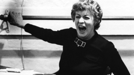 Uta Hagen teaches at her HB Studio in New York.