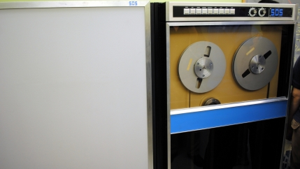 This SDS Sigma 7 computer sent the first message over the predecessor of the internet in 1969.