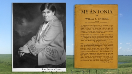Willa Cather in a 1921 Rinehart Marsden portrait.