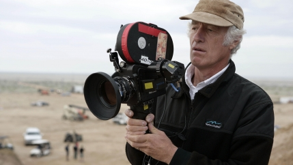 "Roger Deakins on the set of ""Jarhead"" in 2005."