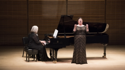 Pianist Kathleen Kelly and mezzo-soprano Jamie Barton perform at Carnegie Hall.