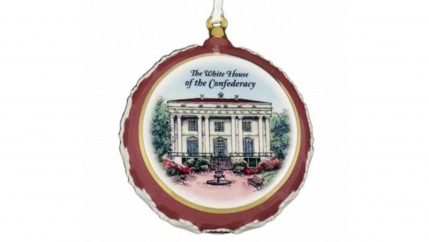 A decorative ornament on sale at the White House of the Confederacy.