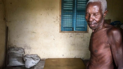 Okyeame Ampadu, an 80-year-old farmer in the Volta Region of Ghana