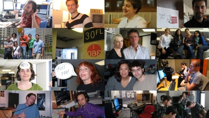 Studio 360 staff through the years.