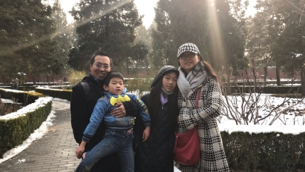The Hou family in Beijing in January, days before alarm spread about the coronavirus.