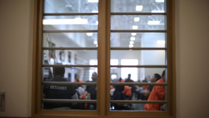 Detained immigrants are seen at Otay Mesa immigration detention center in San Diego, May 18, 2018.