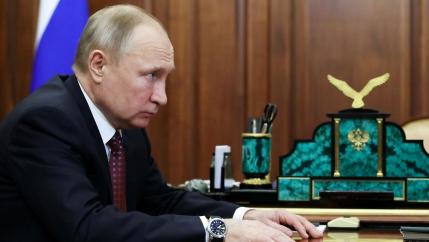 A midshot of President Vladimir Putin